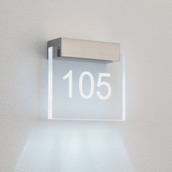 0924 Numero LED Wall Light In Nickel For Acrylic Door Number from Lights 4 Living