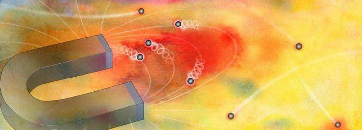 """Electrons """"puddle"""" under high magnetic fields, study reveals their much more tightly confined motion - http://phys.org/news/2017-01-electrons-puddle-high-magnetic-fields.html"""