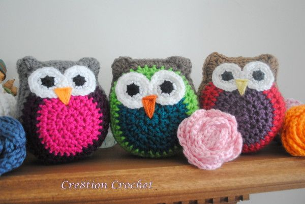 Owl Stuffy - free pattern on Cre8tion CrochetCrochet Owl Pattern, Owls Pattern, Little Owls, Stuffed Owl, Free Crochet, Crochet Free Pattern, Crochet Owls, Crochet Patterns, Owls Stuffy