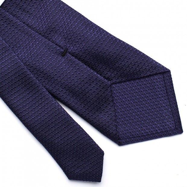 Textured Silk Tie - Purple - Berg & Berg