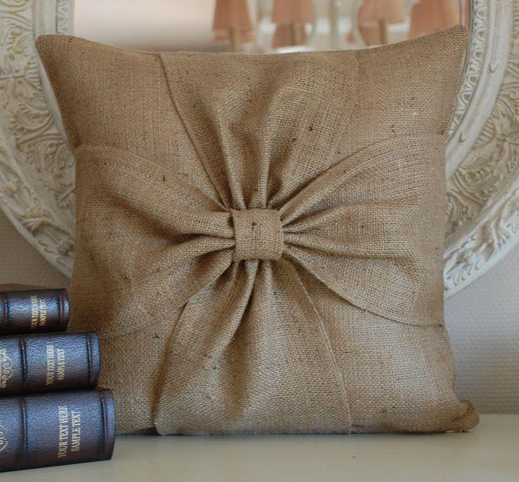 oh, that' cool! diy burlap sack pillows splurge on this summer ...