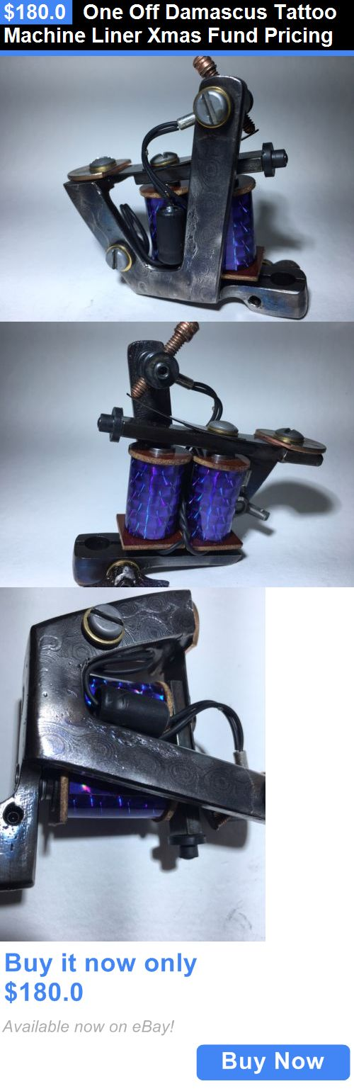 Tattoo Machines and Parts: One Off Damascus Tattoo Machine Liner Xmas Fund Pricing BUY IT NOW ONLY: $180.0