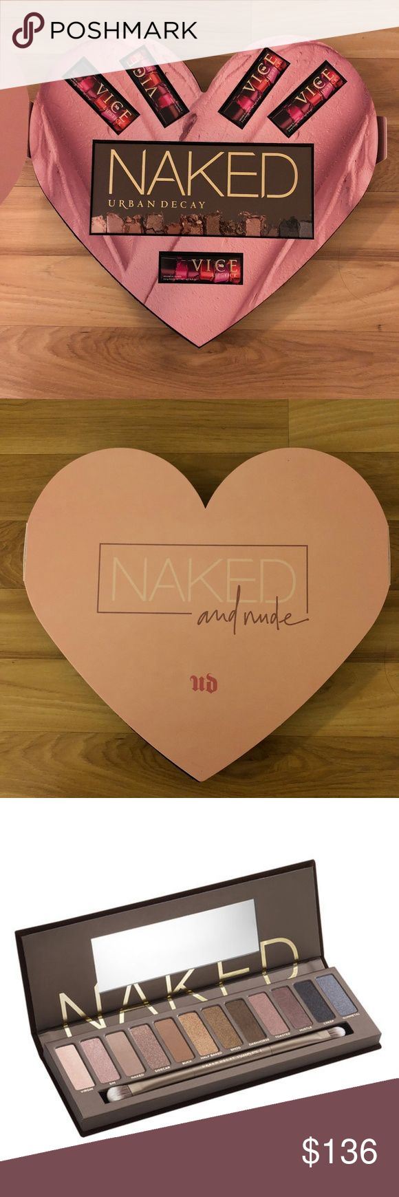 Naked and Nude 6-Piece Gift Set NOT SOLD IN STORES Brand new gift set NOT SOLD IN STORES. All items are exclusively curated for a complete, matching look.  Price is based on current full retail price on Urban Decay.  Includes:   1) Naked Palette - $54  2) Vice Metallized Lipstick in Gubby - $18  3) Vice Comfort Matte Lipstick in 1993 - $18  4) Vice Comfort Matte Lipstick in Backtalk - $18  5) Vice Comfort Matte Lipstick in Stark Naked - $18  6) Vice Cream Lipstick in Naked - $18  Total…