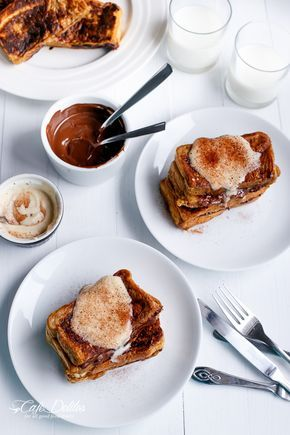#Cappuccino #Chocolate #French #Toast with #Coffee #Cream