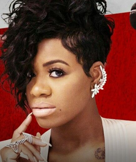 style of curly hair been loving fantasia s hair lately this asymmetrical 6363