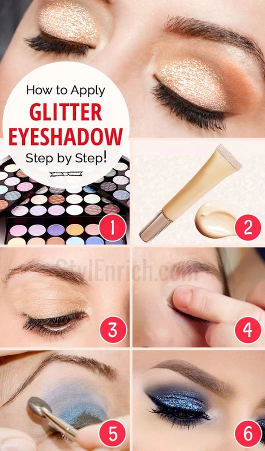 How to Apply Glitter Eyeshadow - Step by Step Tutorial
