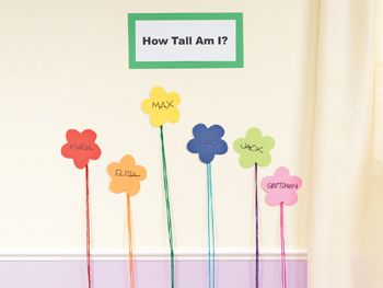 "Here's a spring #STEM activity that teaches children height comparison. ""How Tall Am I Flowers"" gives children the opportunity to practice their measuring skills. Click on the link for details. #STEMlearning #STEMeducation #earlyeducation"