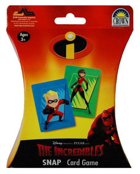 The Incredibles Snap Card Game and more of The Incredibles toys at Funstra