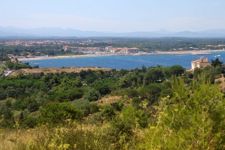 Argeles plage, vue de Collioure