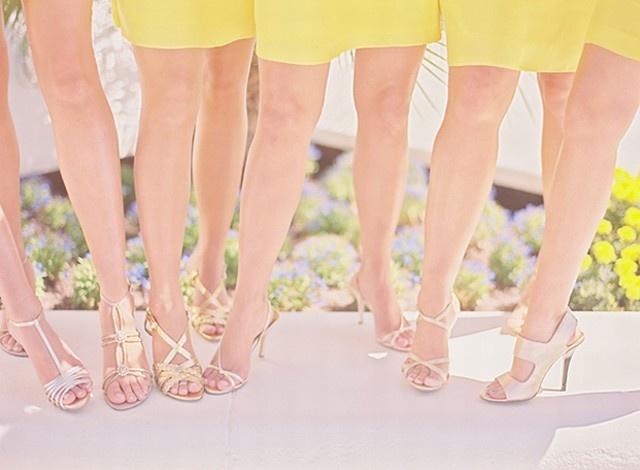 idée, inspiration mariage jaune au printemps
