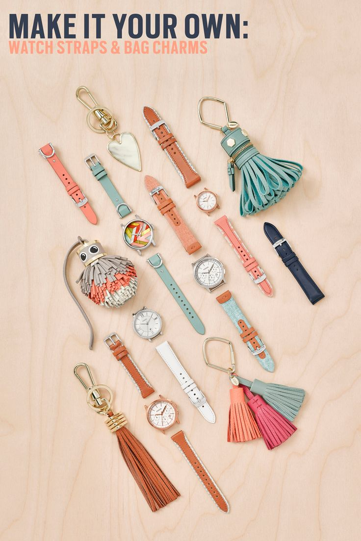 Make it your own with a quirky leather bag charm or interchangeable boyfriend watch straps that you can mix and match (or clash).