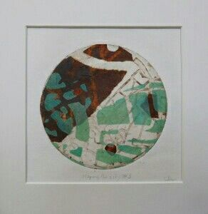 Mapping The City #3 by Sally Hirst collage of hand printed paper.