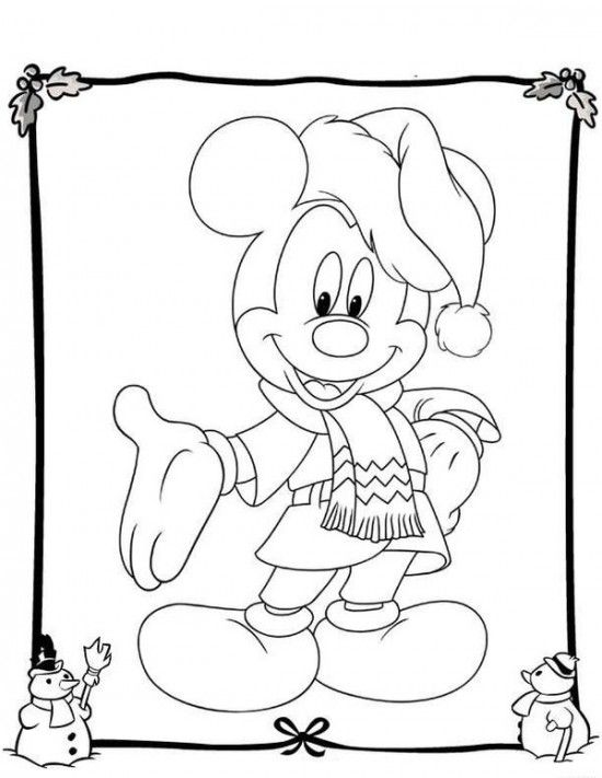 best free disney christmas coloring pages for kids - Coloring Pages Disney Minnie Mouse