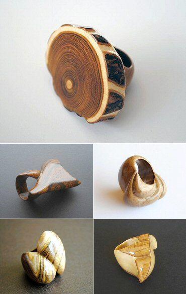 anillos de madera