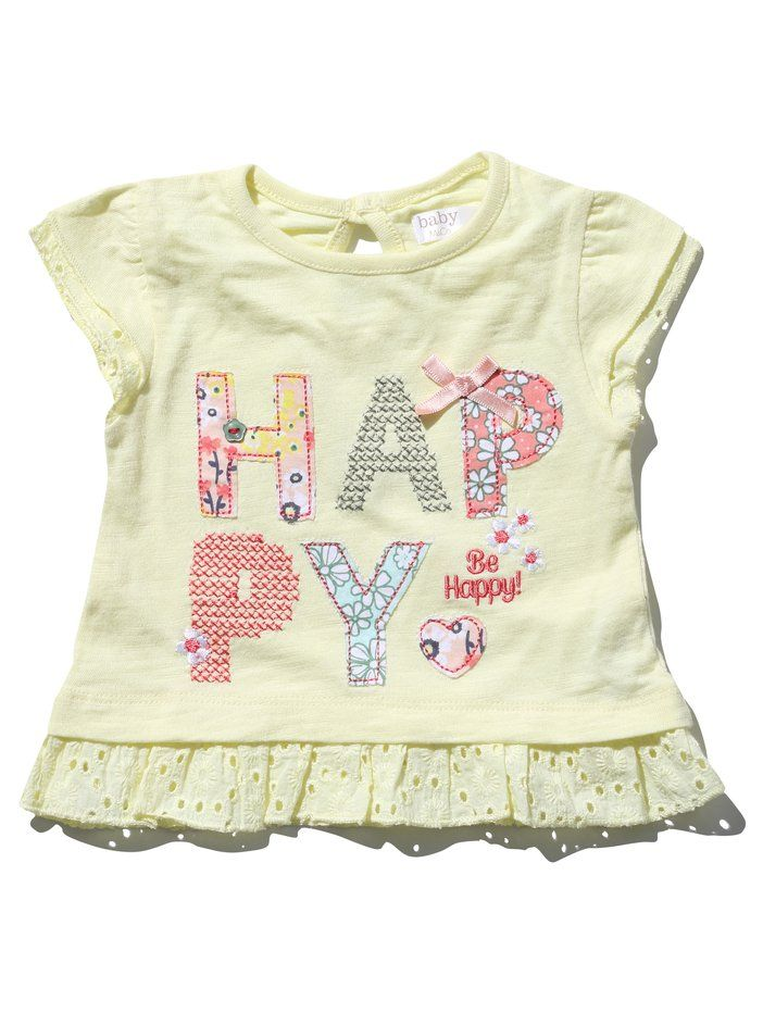 M&Co. Baby Be happy frill t-shirt