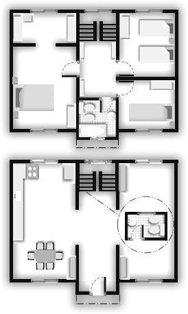 M s de 25 ideas incre bles sobre casas industrializadas en - Planos de casas americanas ...