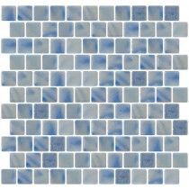 Blue Grey Iridescent Skies Recycled Glass tile