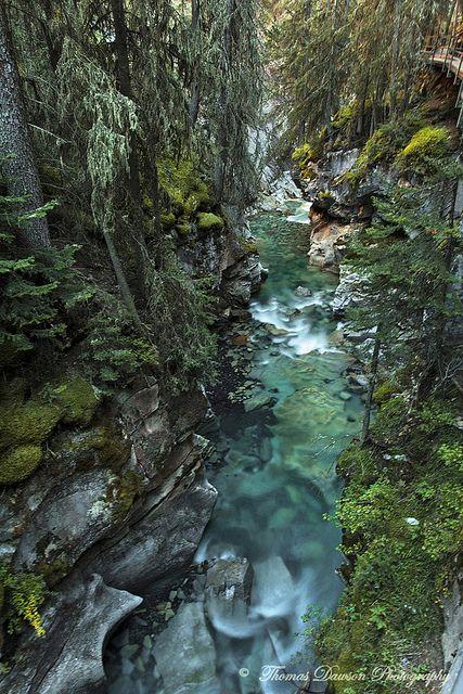 Johnston Canyon walk in Banff National Park,  Alberta, Canada