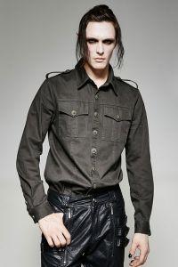 Hemd Military Style mit Epauletten