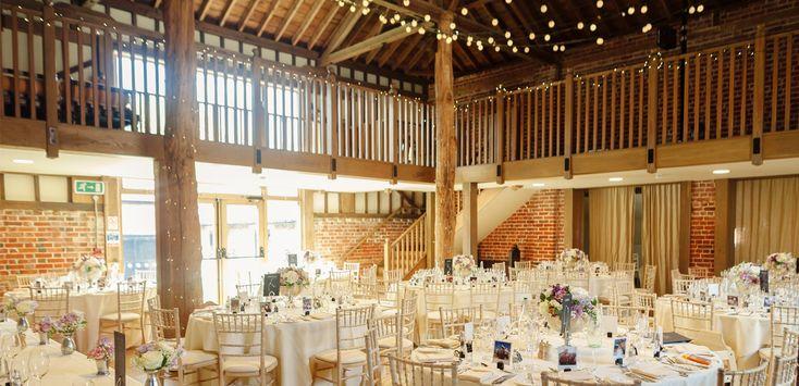 Gaynes Park's Mill Barn set up for a wedding breakfast