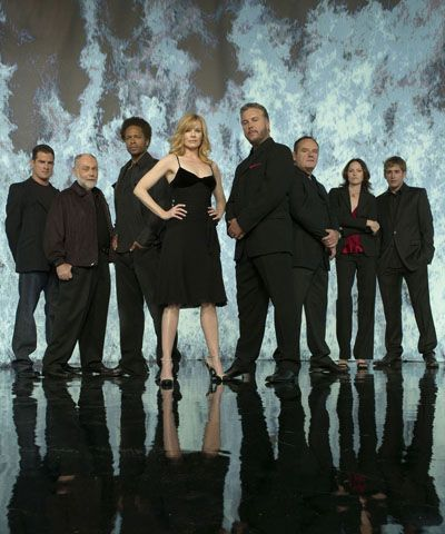 CSI Nick,Al,Warrick,Catherine,Gil,Jim,Sara and Greg original cast of CSI: Las Vegas