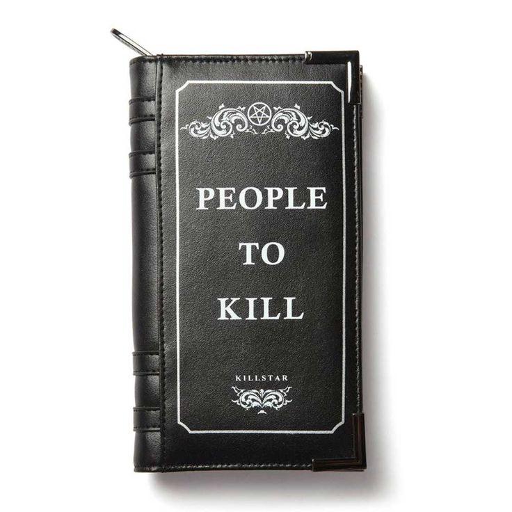 Killstar Kill List Book portemonnee zwart - Rock Metal Gothic Occult -
