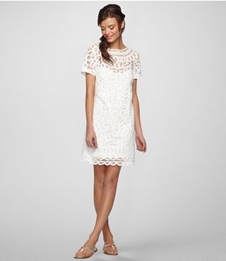 a white cocktail dress