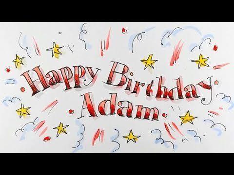 How To Draw Happy Birthday In Fancy Lettering Spoken