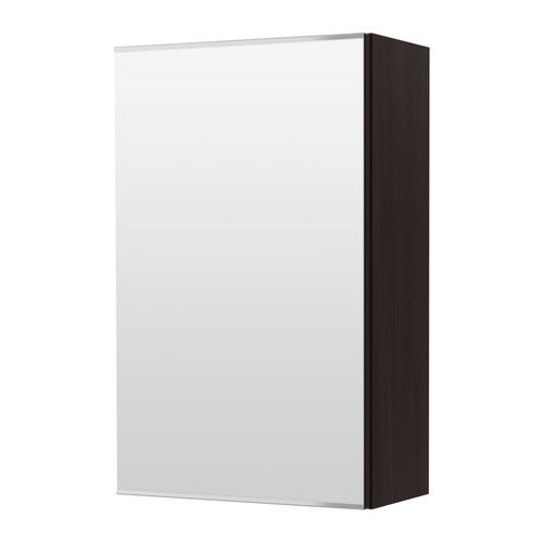 LILLÅNGEN Mirror cabinet with 1 door - black-brown - IKEA