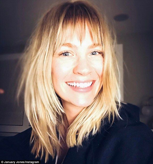 'Thanks for the shag': January Jones showed off her new choppy bangs on Instagram on Tuesd...