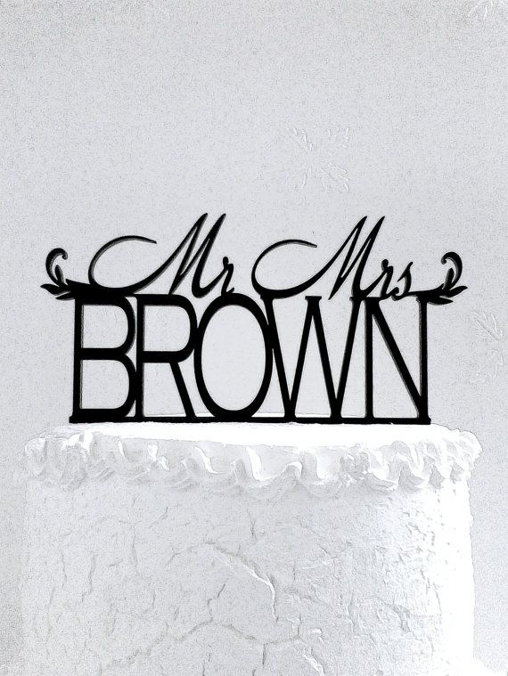 Mr and Mrs Brown от CakeTopperDesign на Etsy