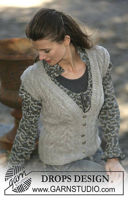 Ravelry: 96-8 Sleeveless cardigan with cable patterns in Alpaca pattern by DR...