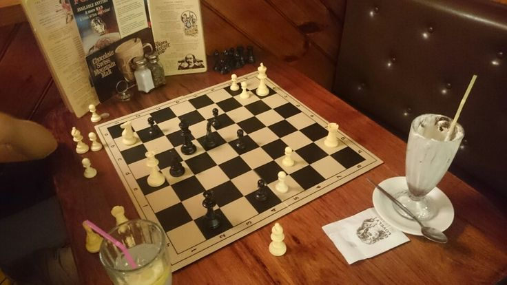 A game of chess at pancake parlour