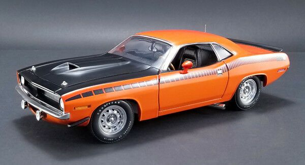 ACME 1970 Plymouth Barracuda AAR Vitamin C Orange 1//18