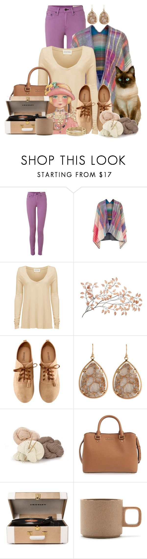 """""""Untitled #99"""" by lilarose111 ❤ liked on Polyvore featuring rag & bone, Missoni, American Vintage, H&M, Barse, MICHAEL Michael Kors, Crosley Radio & Furniture, Hasami and Chico's"""