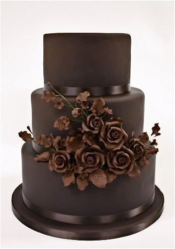 chocolate wedding cake (Colour Board - Beautifully Brown)