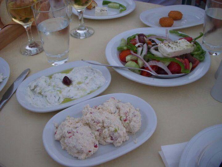 Heerlijk eten in Griekenland.