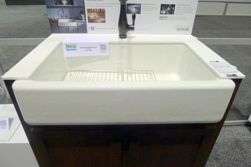 First up, Kohler's new Top-Mount Self-Trimming Apron Front Sink ...