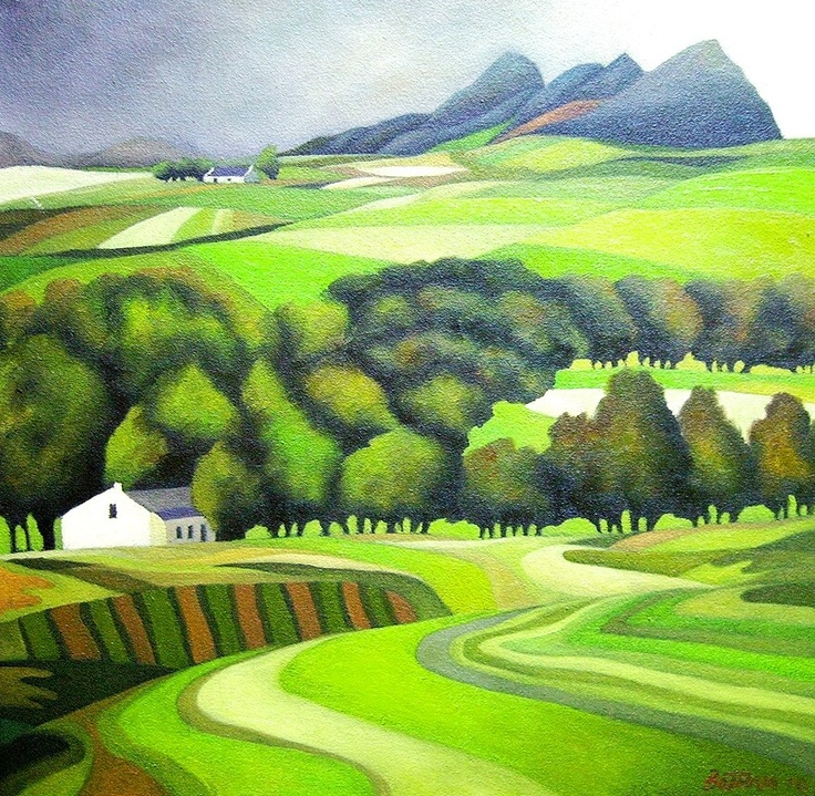 Helderberg Farm by John Botham  Oil on Canvas  500 X 500mm  ZAR 3600.00 SOLD (Please contact the Artist for available works or commissions)
