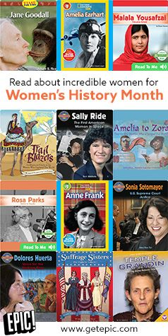 Celebrate Women's History Month by reading about courageous, inspiring, and unstoppable women who have changed the world. Not yet using Epic! in the classroom? Epic! for Educators is 100% FREE for elementary school teachers and librarians in U.S. and Canada. Sign up with your educator email and gain instant, unlimited access to thousands of books in our award-winning library!