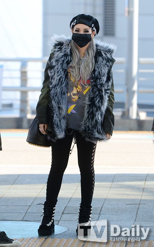 PRESS PHOTOS OF STYLISH 2NE1 CL AT INCHEON AIRPORT, HEADING TO HONG KONG FOR MAMA (NOVEMBER 30, 2015)