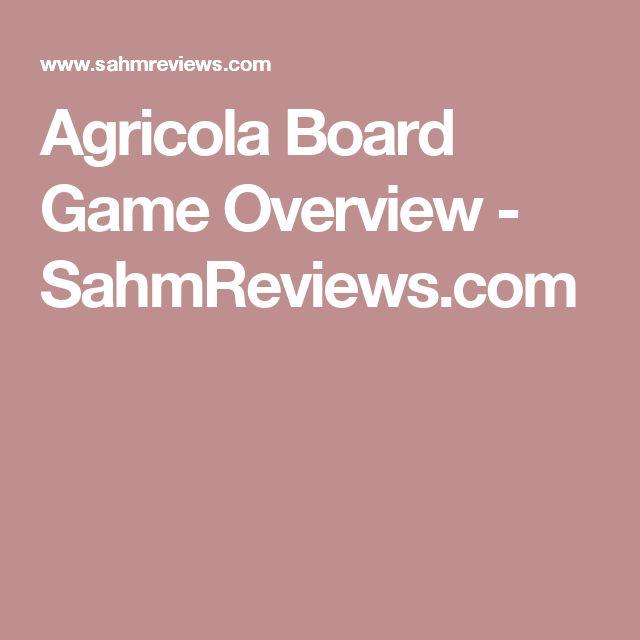 Agricola Board Game Overview - SahmReviews.com