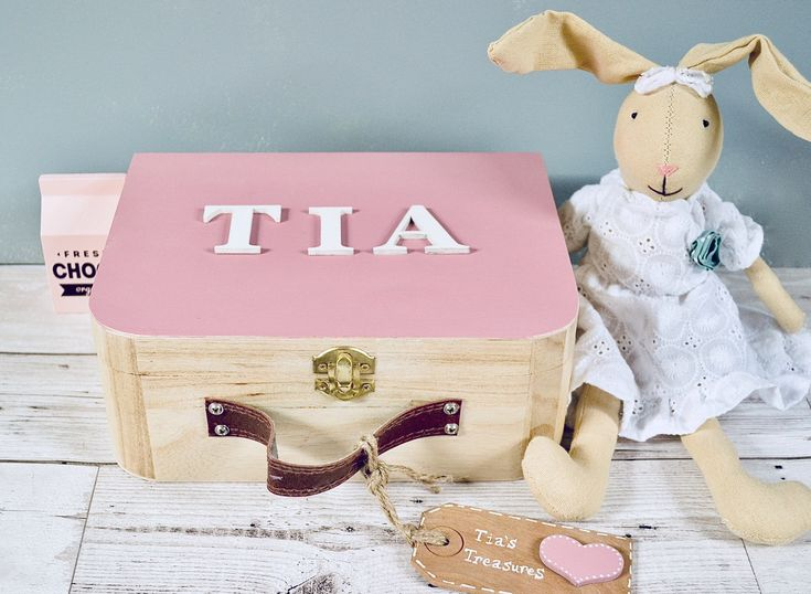 Excited to share the latest addition to my #etsy shop: Personalised Memory Keepsake Box, Girls pink memory box, keepsake box for girls, christening gift, girls wooden keepsake box, baby gift #pink #birthday #easter #white #wood #memorybox #personalizedbaby