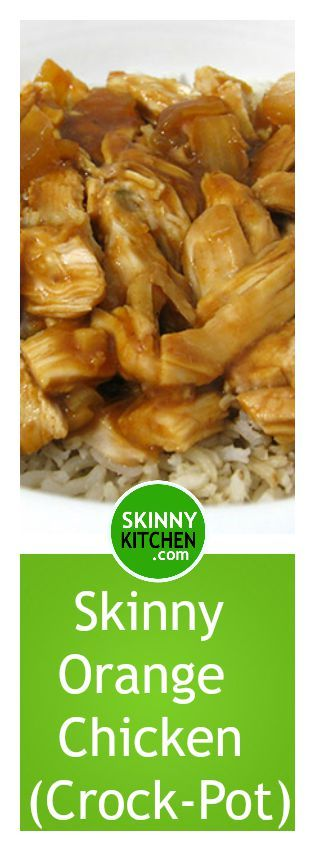 Skinny Orange Shredded Chicken, Crock-Pot or Baked. It's simple and delicious! Each serving has 294 calories, 1g fat and 7 Weight Watchers POINTS PLUS. http://www.skinnykitchen.com/recipes/skinny-orange-shredded-chicken-baked-or-crock-pot/