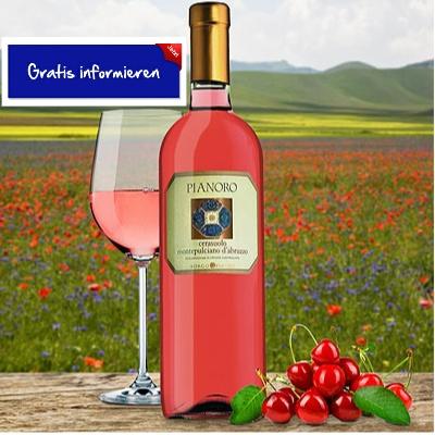 Zu 100% aus der Rebsorte Montepulciano wird dieser sommerlich leichte Roséwein