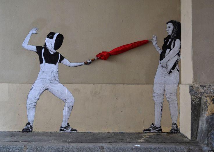 Arte callejero que interactúa con el ambiente (FOTOS)