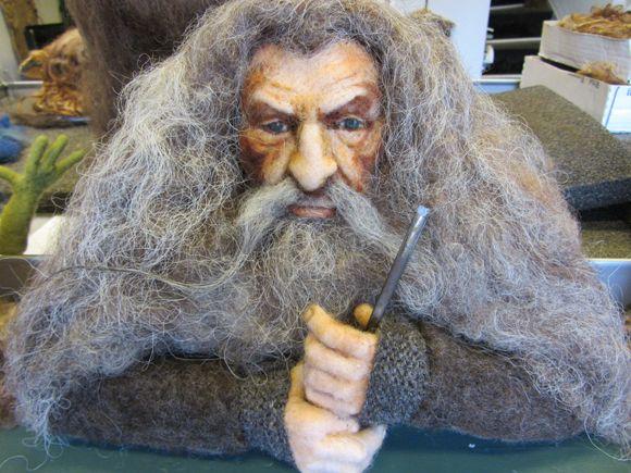 Needle felted Gandalf by Brigitte Krag Hansen