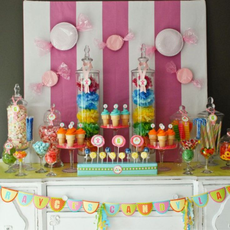 Candy Land Inspired Birthday Party: Candy Land Parties, Party'S, Birthday Parties, Party Printables, Candyland Birthday, Candyland Parties, Candy Land Party, Parties Ideas, Desserts Tables