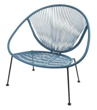 Stablestol SPOLETO stål/petan blå