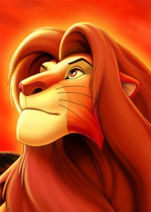 The Lion King  I actually drew this picture!n:)